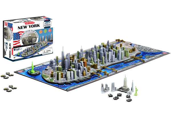 4D Cityscape Puzzle New York, USA