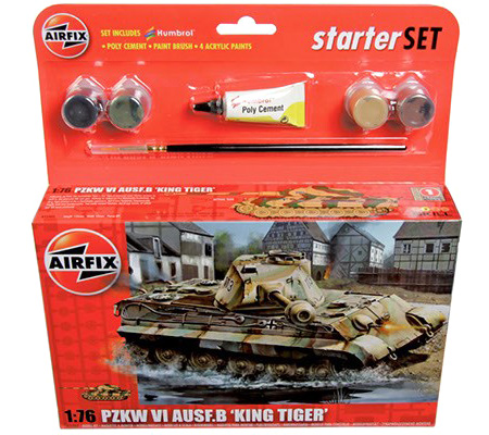 Byggmodell tanks - Starter Set King Tiger - 1:76