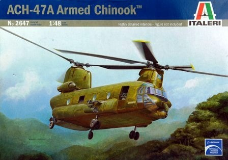 Byggmodell helikopter - CH-47 CHINOOK - SUPER DETAIL SET - 1:48 - IT