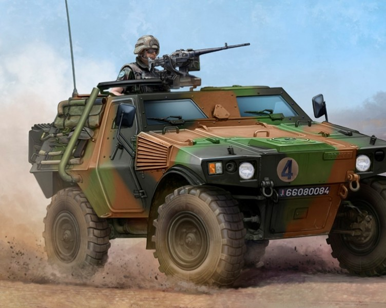 Byggmodell stridsfordon - French VBL Armour Car - 1:35 - Trumpeter