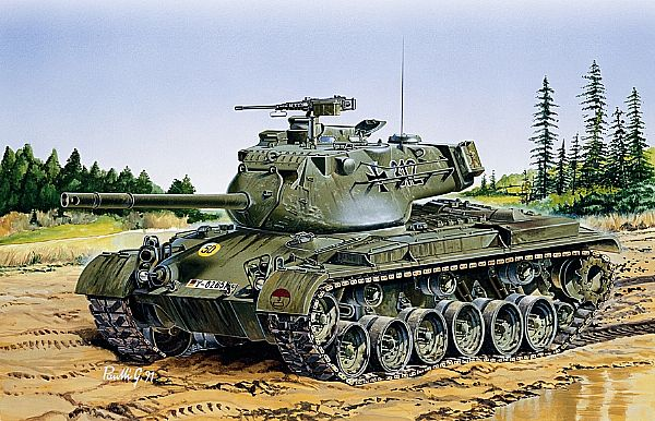 Byggmodell stridsvagn - M47 PATTON - 1:35 - IT