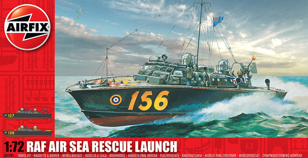 Byggmodell stridsbåt - RAF Rescue Launch - 1:72 - Airfix