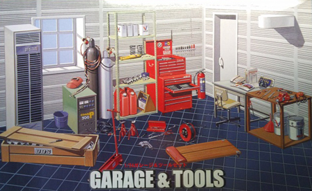 Byggmodell - Garage and Tool Set - 1:24 - FJ
