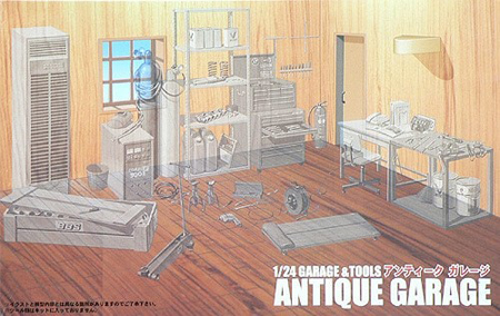 Byggmodell - Antique Garage - 1:24 - FJ