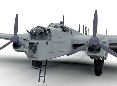 Byggmodell flygplan - Armstrong Whitworth Whitley Mk.V - 1:72 - AirFix
