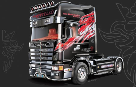 Byggmodell lastbil - Scania 164L Topclass Showtrucks - 1:24 - IT