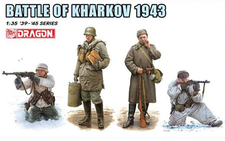 Byggmodell gubbar - Battle of Kharkov 1943, 4 Figures Set - 1:35 - Dragon
