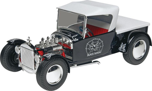 Byggmodell bil - Black Widow Hot Rod - 1:24 - Mg