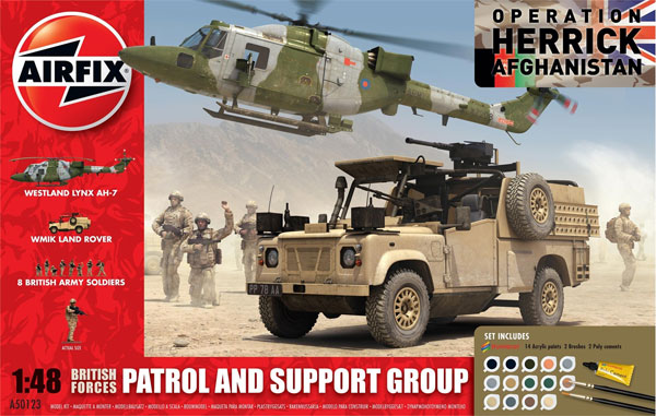 Byggmodell - British Forces, Patrol and Support group - 1:48
