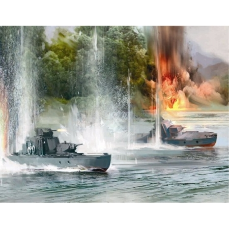 stridsfordon - Soviet Armored Boat - 1:100 - SNAP