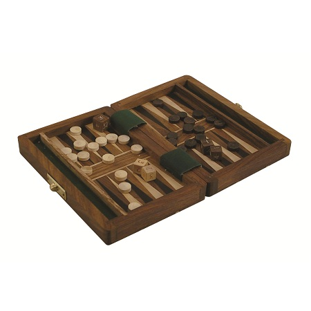 Backgammon i vacker ask av  Rosewood, 3511