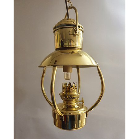 Fotogenlampa Trawler lamp jr.mässing EL  jr8211/E